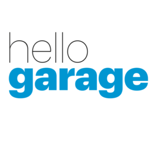 Hello Garage logo superpose